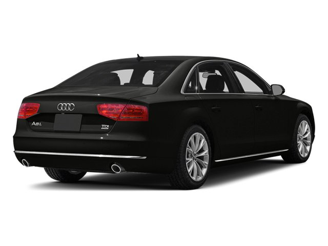 Havanna Black Metallic 2013 Audi A8 L Pictures A8 L Sedan 4D 3.0T L AWD V6 Turbo photos rear view