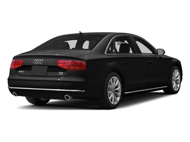 Phantom Black Pearl 2013 Audi A8 L Pictures A8 L Sedan 4D 3.0T L AWD V6 Turbo photos rear view
