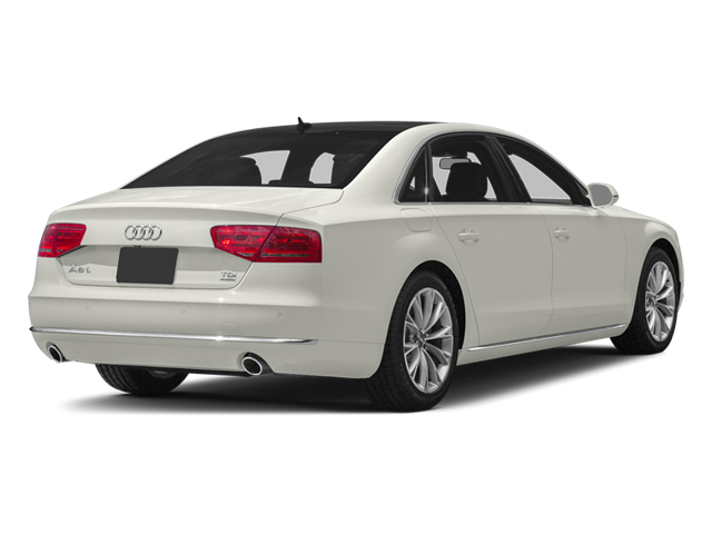 Ibis White 2013 Audi A8 L Pictures A8 L Sedan 4D 6.3 L AWD W12 photos rear view