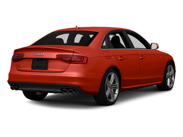 Volcano Red Metallic 2013 Audi S4 Pictures S4 Sedan 4D S4 Prestige AWD photos rear view