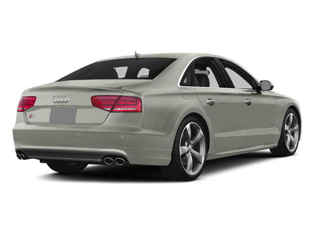 Prism Silver Crystal 2013 Audi S8 Pictures S8 Sedan 4D S8 AWD photos rear view
