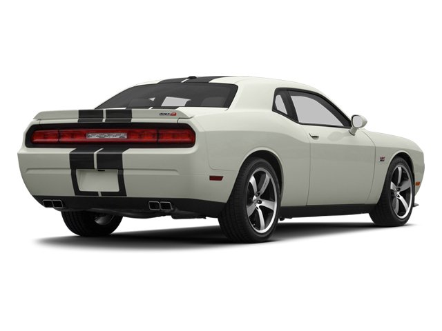 Bright White 2013 Dodge Challenger Pictures Challenger Coupe 2D SRT-8 V8 photos rear view