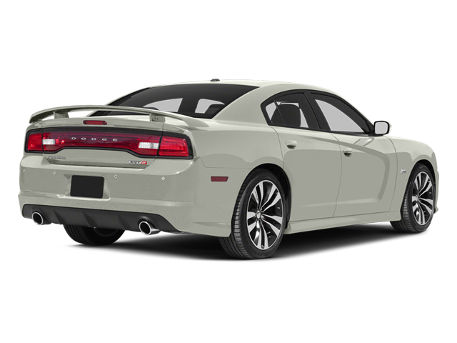 Bright White 2013 Dodge Charger Pictures Charger Sedan 4D SRT-8 V8 photos rear view