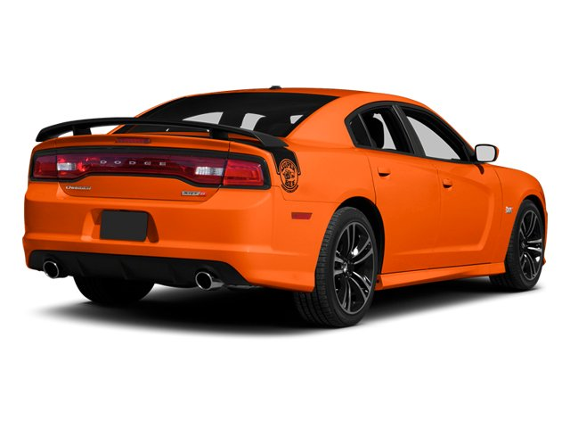 Hemi Orange Pearl 2013 Dodge Charger Pictures Charger Sedan 4D SRT-8 Super Bee V8 photos rear view