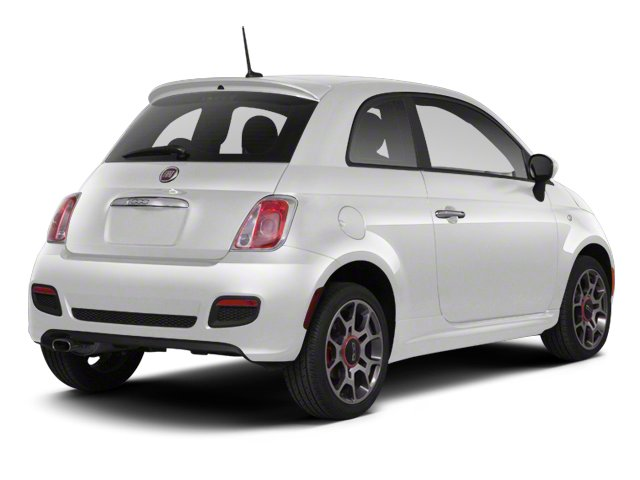 Gucci White 2013 FIAT 500 Pictures 500 Hatchback 3D Lounge I4 photos rear view