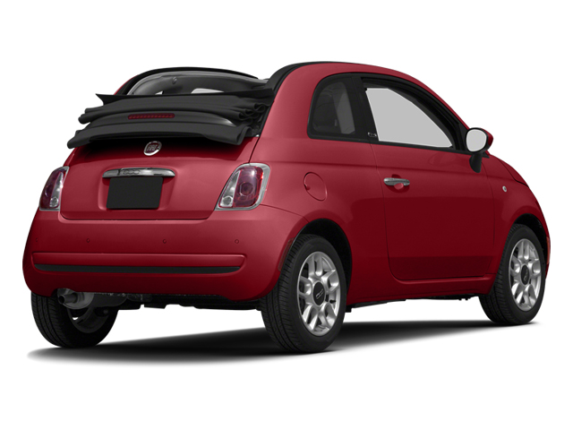 Rosso (Red) 2013 FIAT 500 Pictures 500 Convertible 2D Pop I4 photos rear view