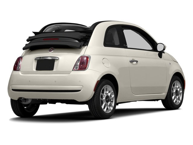 Bianco (White) 2013 FIAT 500 Pictures 500 Convertible 2D Pop I4 photos rear view