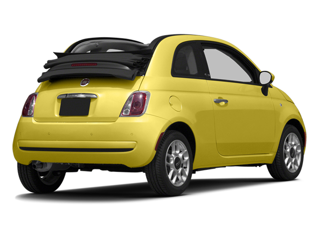 Giallo (Yellow) 2013 FIAT 500 Pictures 500 Convertible 2D Pop I4 photos rear view