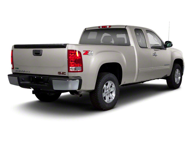 Steel Gray Metallic 2013 GMC Sierra 1500 Pictures Sierra 1500 Extended Cab SLE 4WD photos rear view