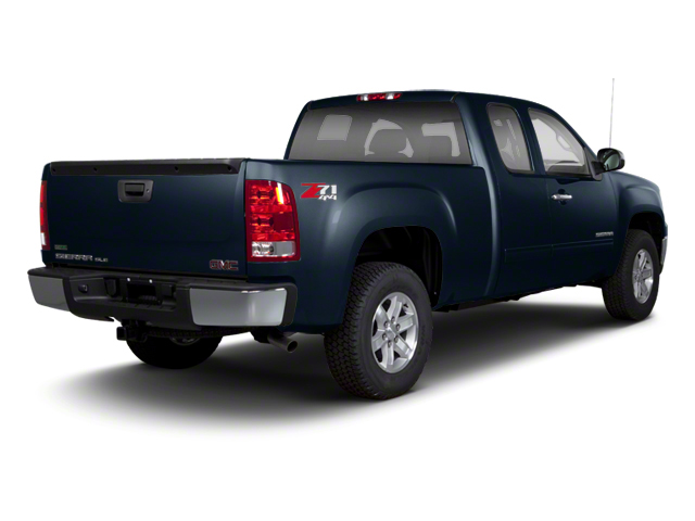 Graphite Blue Metallic 2013 GMC Sierra 1500 Pictures Sierra 1500 Extended Cab SLE 4WD photos rear view