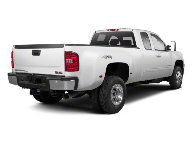 Summit White 2013 GMC Sierra 3500HD Pictures Sierra 3500HD Extended Cab SLT 2WD photos rear view