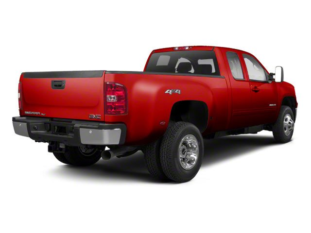 Fire Red 2013 GMC Sierra 3500HD Pictures Sierra 3500HD Extended Cab SLT 2WD photos rear view