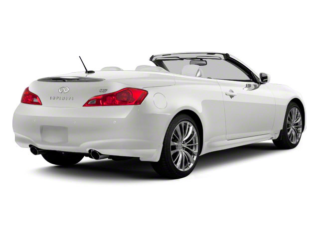 Moonlight White 2013 INFINITI G37 Convertible Pictures G37 Convertible Convertible 2D 6 Spd V6 photos rear view