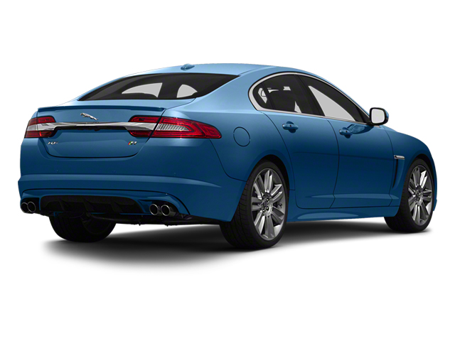 Kyanite Blue Metallic 2013 Jaguar XF Pictures XF Sedan 4D XFR V8 Supercharged photos rear view