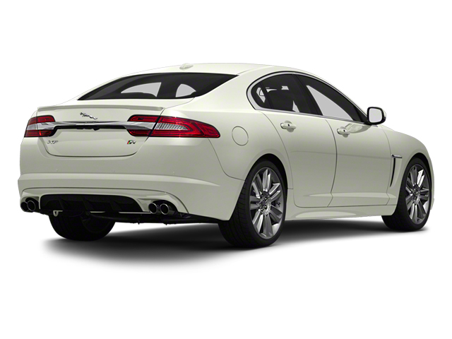 Polaris White 2013 Jaguar XF Pictures XF Sedan 4D XFR V8 Supercharged photos rear view