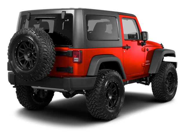 Flame Red 2013 Jeep Wrangler Pictures Wrangler Utility 2D Rubicon 4WD photos rear view