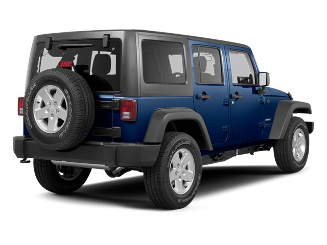 True Blue Pearl 2013 Jeep Wrangler Unlimited Pictures Wrangler Unlimited Utility 4D Unlimited Sahara 4WD photos rear view