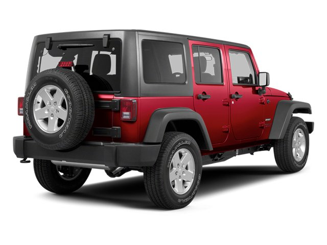 Deep Cherry Red Crystal Pearl 2013 Jeep Wrangler Unlimited Pictures Wrangler Unlimited Utility 4D Unlimited Sahara 4WD photos rear view