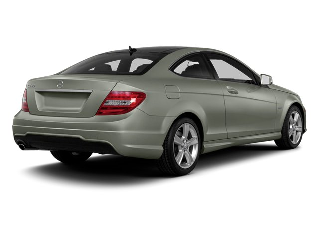 Palladium Silver Metallic 2013 Mercedes-Benz C-Class Pictures C-Class Coupe 2D C250 photos rear view