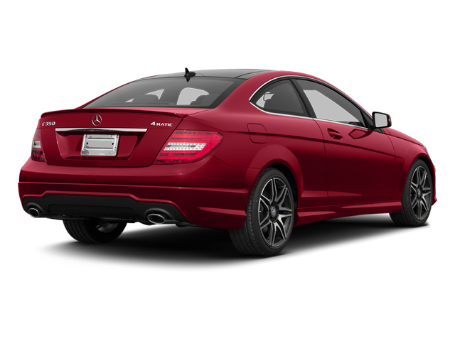 Mars Red 2013 Mercedes-Benz C-Class Pictures C-Class Coupe 2D C350 AWD photos rear view