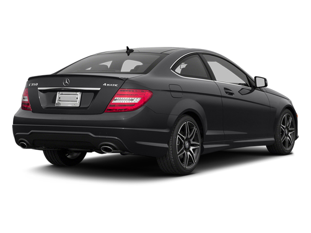Steel Grey Metallic 2013 Mercedes-Benz C-Class Pictures C-Class Coupe 2D C350 AWD photos rear view
