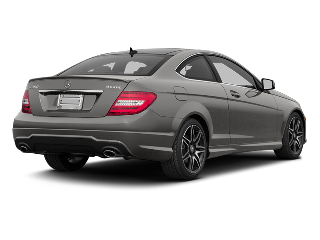 Palladium Silver Metallic 2013 Mercedes-Benz C-Class Pictures C-Class Coupe 2D C350 AWD photos rear view
