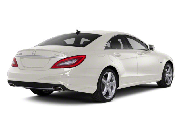 Diamond White Metallic 2013 Mercedes-Benz CLS-Class Pictures CLS-Class Sedan 4D CLS550 AWD photos rear view