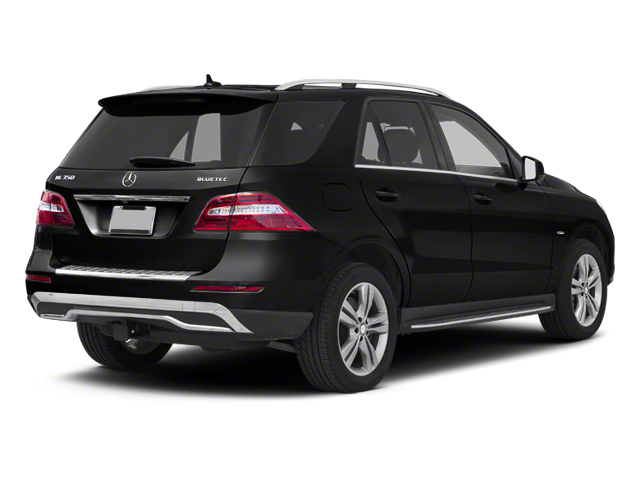 Obsidian Black Metallic 2013 Mercedes-Benz M-Class Pictures M-Class Utility 4D ML350 BlueTEC AWD photos rear view