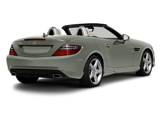 Palladium Silver Metallic 2013 Mercedes-Benz SLK-Class Pictures SLK-Class Roadster 2D SLK350 photos rear view