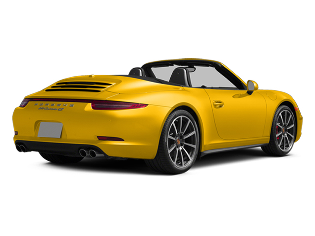 Racing Yellow 2013 Porsche 911 Pictures 911 Cabriolet 2D 4S AWD H6 photos rear view