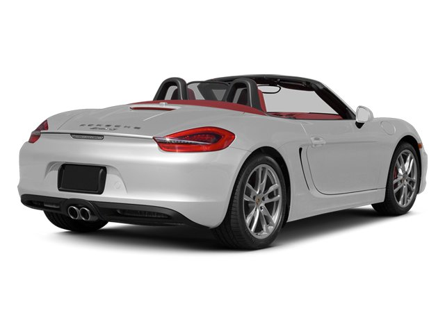 White 2013 Porsche Boxster Pictures Boxster Roadster 2D S photos rear view