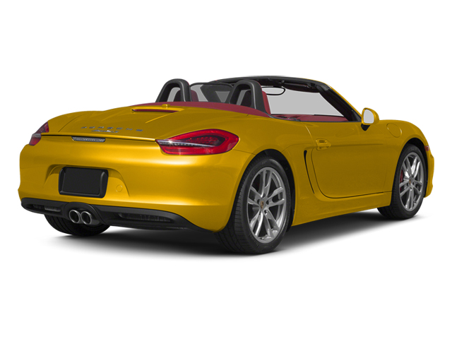 Racing Yellow 2013 Porsche Boxster Pictures Boxster Roadster 2D S photos rear view