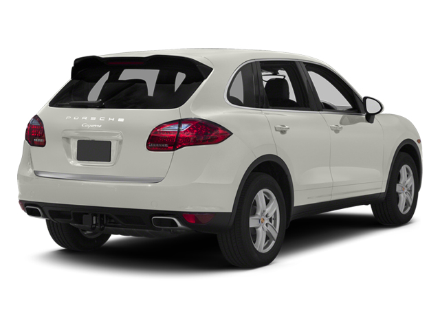 White 2013 Porsche Cayenne Pictures Cayenne Utility 4D Diesel AWD (V6) photos rear view