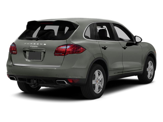 Classic Silver Metallic 2013 Porsche Cayenne Pictures Cayenne Utility 4D Diesel AWD (V6) photos rear view
