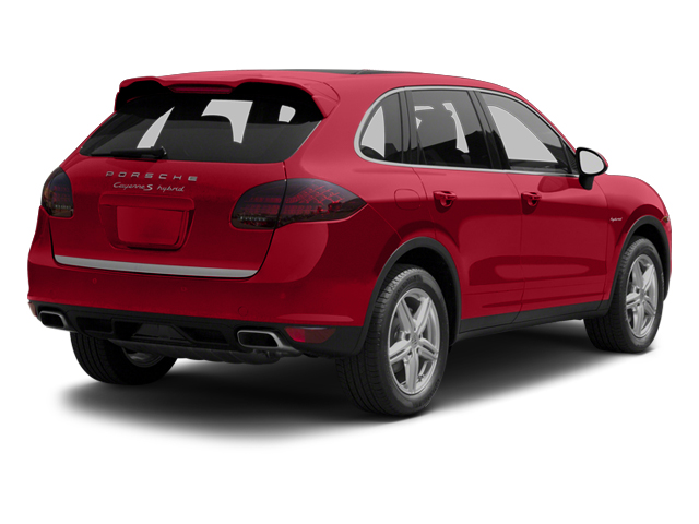 Carmine Red 2013 Porsche Cayenne Pictures Cayenne Utility 4D S Hybrid AWD (V6) photos rear view
