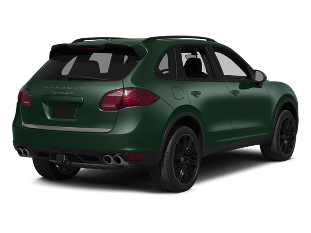 Jet Green Metallic 2013 Porsche Cayenne Pictures Cayenne Utility 4D Turbo AWD (V8) photos rear view