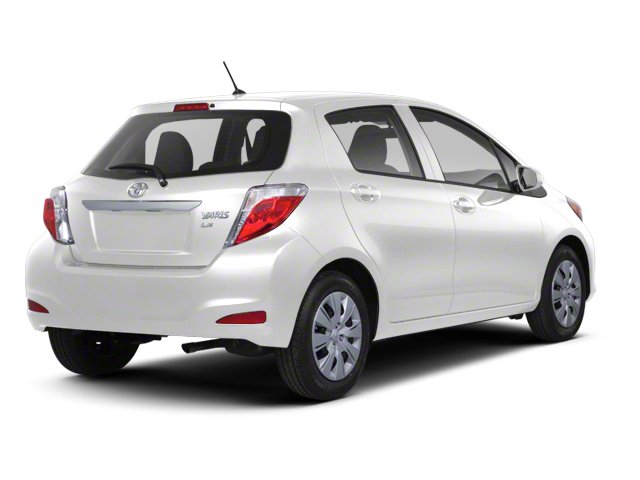 Super White 2013 Toyota Yaris Pictures Yaris Hatchback 5D LE I4 photos rear view