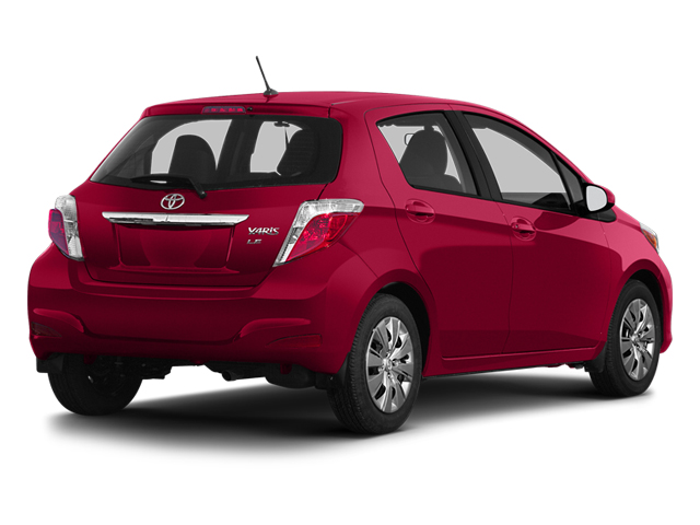 Absolutely Red 2013 Toyota Yaris Pictures Yaris Hatchback 5D LE I4 photos rear view