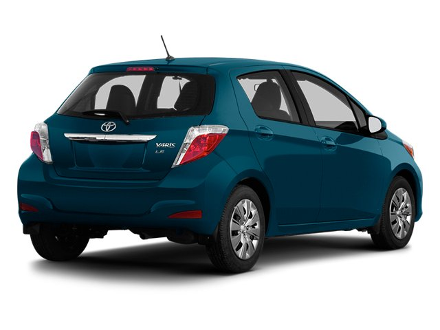 Lagoon Blue Mica 2013 Toyota Yaris Pictures Yaris Hatchback 5D LE I4 photos rear view