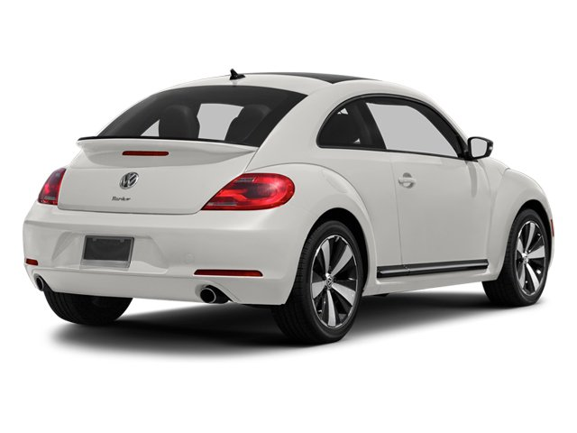 Candy White 2013 Volkswagen Beetle Coupe Pictures Beetle Coupe 2D 2.0T R-Line I4 Turbo photos rear view