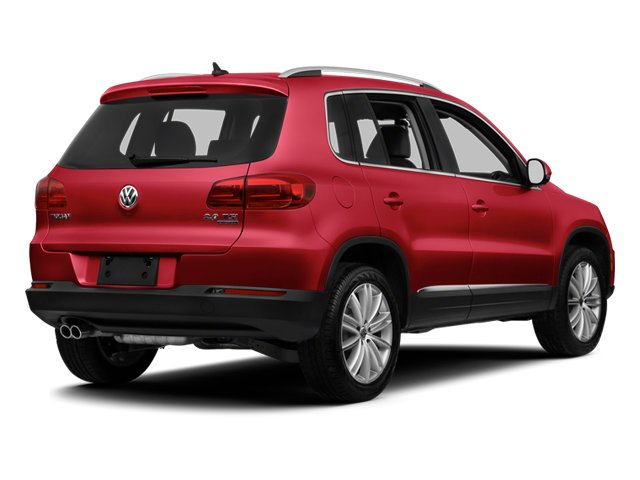 Wild Cherry Metallic 2013 Volkswagen Tiguan Pictures Tiguan Utility 4D SEL 2WD I4 Turbo photos rear view