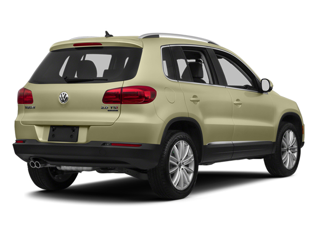 White Gold Metallic 2013 Volkswagen Tiguan Pictures Tiguan Utility 4D SEL 2WD I4 Turbo photos rear view