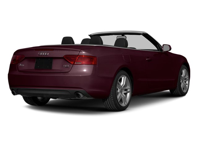 Shiraz Red Metallic/Black Roof 2014 Audi A5 Pictures A5 Convertible 2D Premium 2WD photos rear view