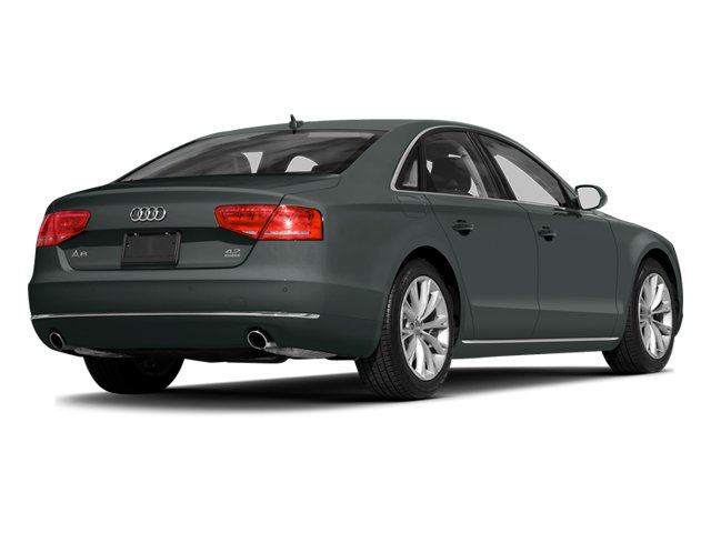 Monsoon Gray Metallic 2014 Audi A8 Pictures A8 Sedan 4D 4.0T AWD V8 Turbo photos rear view