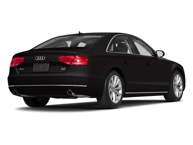 Oolong Gray Metallic 2014 Audi A8 Pictures A8 Sedan 4D 4.0T AWD V8 Turbo photos rear view