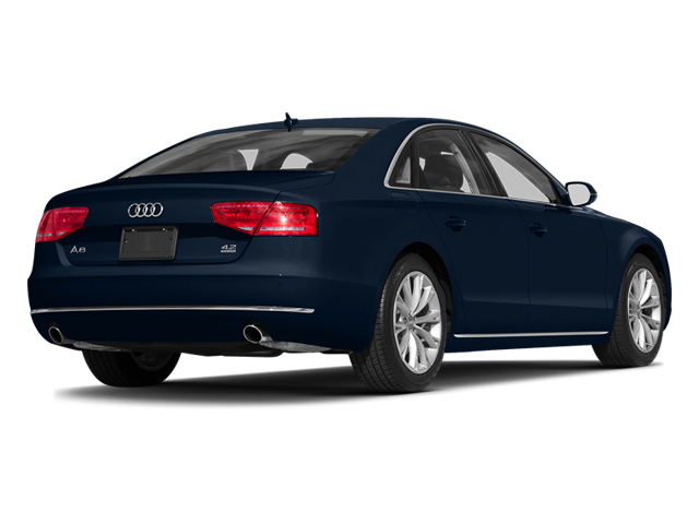 Night Blue Pearl Effect 2014 Audi A8 Pictures A8 Sedan 4D 4.0T AWD V8 Turbo photos rear view