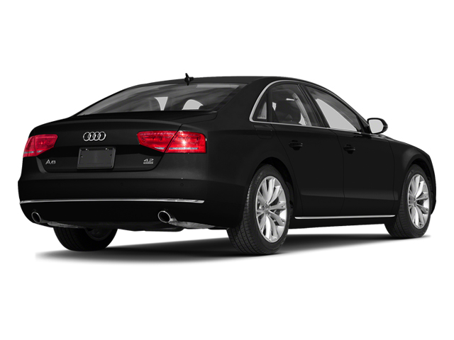 Brilliant Black 2014 Audi A8 Pictures A8 Sedan 4D 4.0T AWD V8 Turbo photos rear view