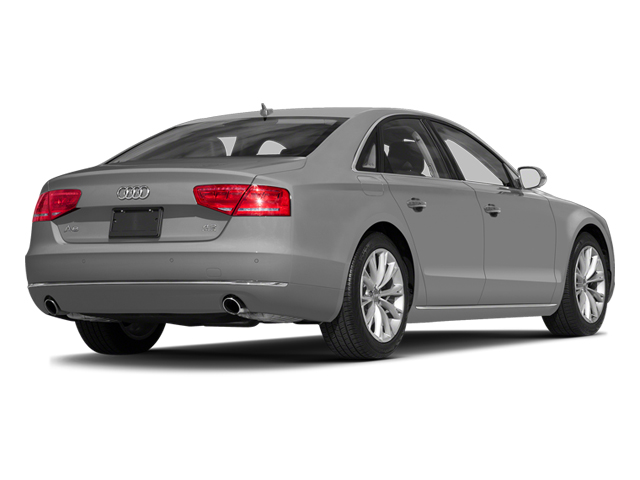 Ice Silver Metallic 2014 Audi A8 Pictures A8 Sedan 4D 4.0T AWD V8 Turbo photos rear view