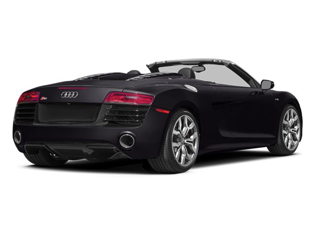 Panther Black Crystal Effect/Black Roof 2014 Audi R8 Pictures R8 2 Door Convertible Quattro Spyder V10 (Manual) photos rear view