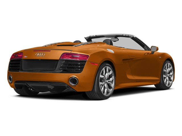 Samoa Orange Metallic/Black Roof 2014 Audi R8 Pictures R8 2 Door Convertible Quattro Spyder V10 (Manual) photos rear view